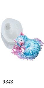 Devil Cat Asleep Mold