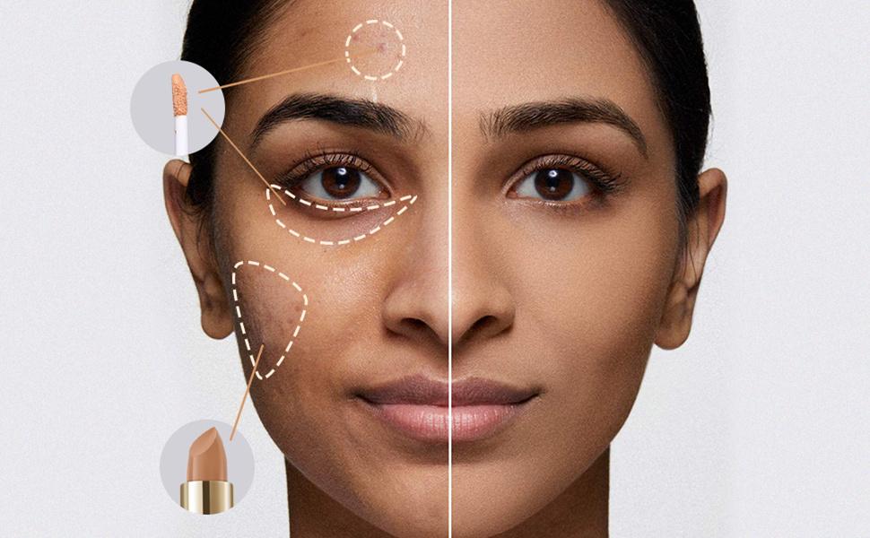 SACE LADY Full Coverage Concealer Stick and Liquid Concealer Face Makeup Dual Concealer Corrector