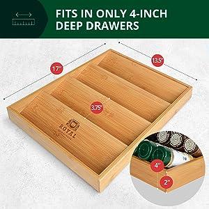 bamboo spice tray