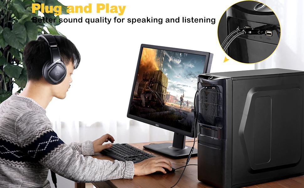 Headphones Splitter for Computer
