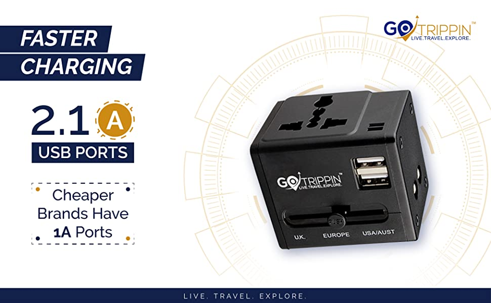 fast charging international adapter