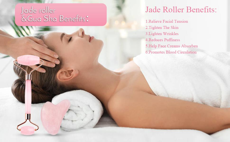 jade roller and gua sha set