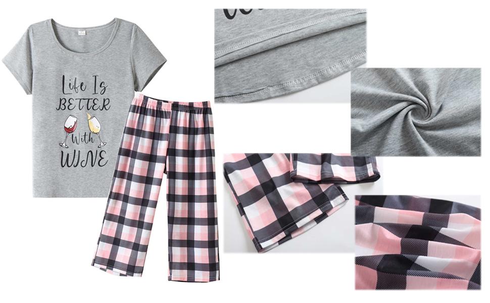 womens summer pajamas sets