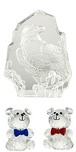 Crystal Eagle and bear
