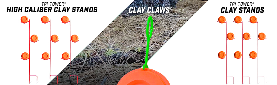 gosports outdoors tri-tower high caliber clay stand and clay claws pigeon hangers