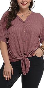 Summer plus size blouse