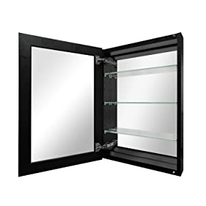 Polished edge frameless mirrored door&fully mirrored inside the cabinet provides superior visibility