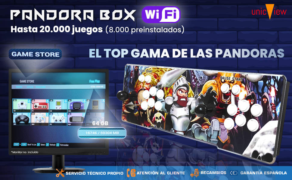 pandora box 3d, pandora box wifi, pandora box wifi 8000, pandora box unicview