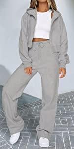 light grey wide leg pants