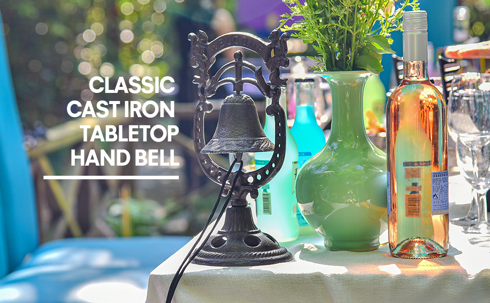 classic cast iron tabletop hand bell