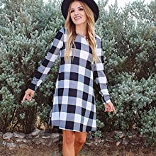 Blue and white plaid style