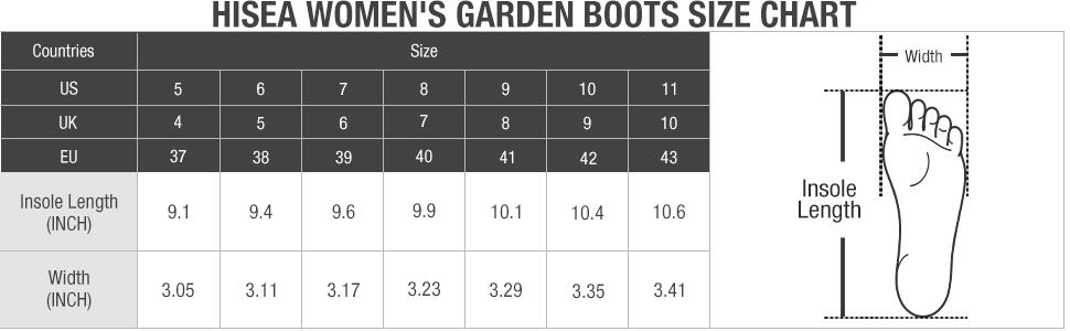 hisea garden shoes waterproof