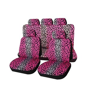 Leopard Animal Print Car Seat Covers Full Set
