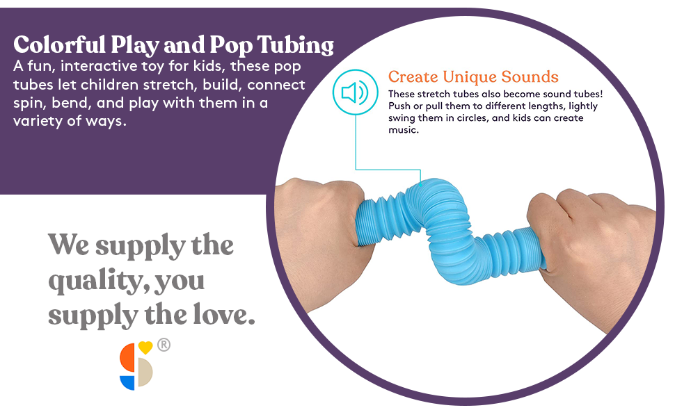 Fun Pull and Pop Tubes for kids