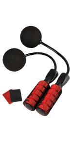 Red Cordless Jumprope with Wristbands