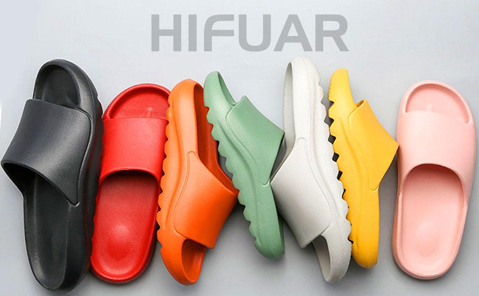 Platform Slide Sandals for Men Women Lightweight Open Toe Shower Shoes