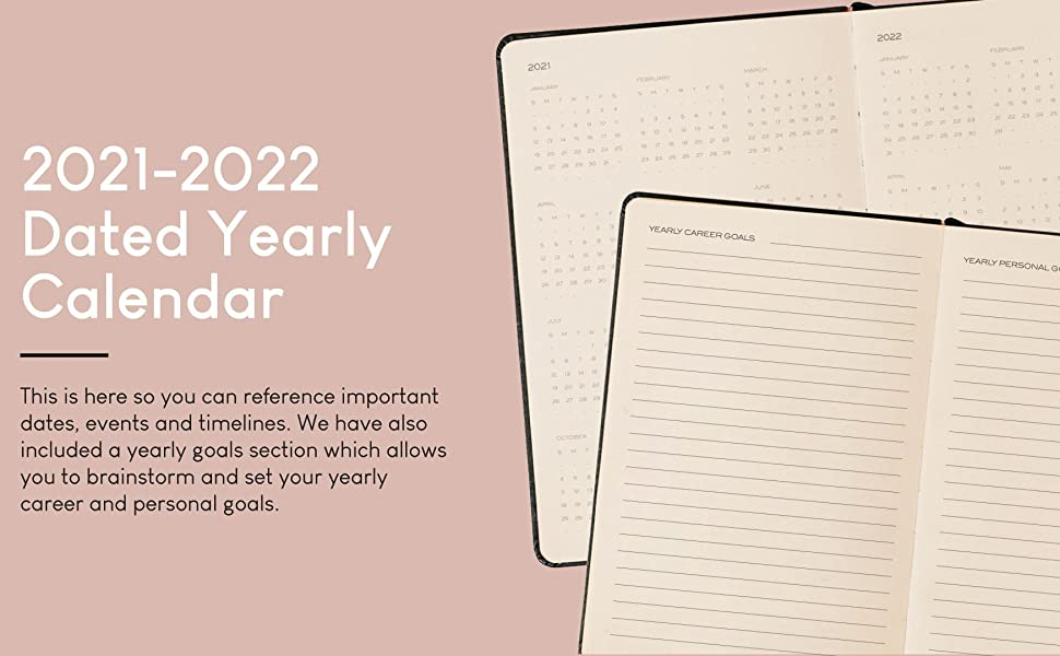 2021-2022 Dated Yearly Calendar & 12 Month Non-Dated Calendar. Yearly & Daily Planner