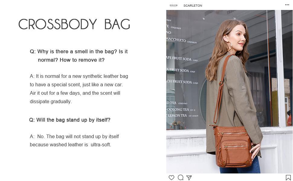 Scarleton showing her crossbody bag