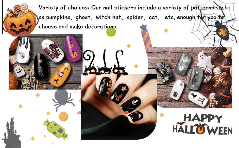 Autumn amp; Halloween Nail Art Stickers