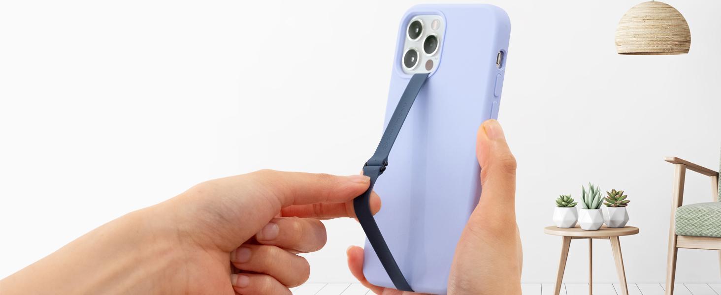 mobile phone strap for back of phone finger holder hand strap silicone reusable phone finger strap