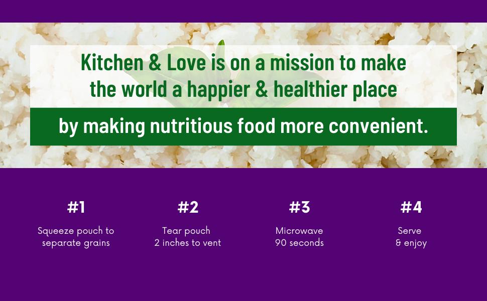 kitchen amp; love mission world happier healthier place nutritious food convenient