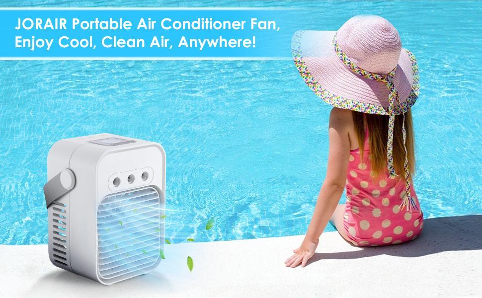 JORAIR Portable Air Conditioner Fan, Enjoy Cool, Clean Air, Anywhere!