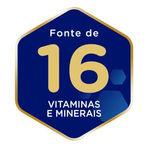 Fonte de 16 vitaminas e minerais