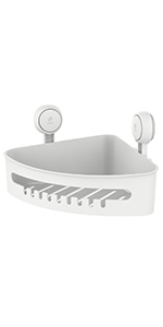 corner suction cup shower caddy