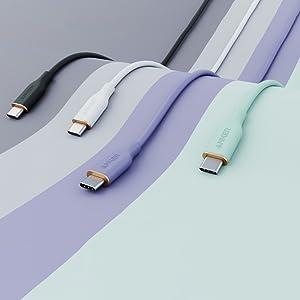 Anker PowerLine III Flow USB-C & USB-C ケーブル (0.9m ミッドナイトブラック)