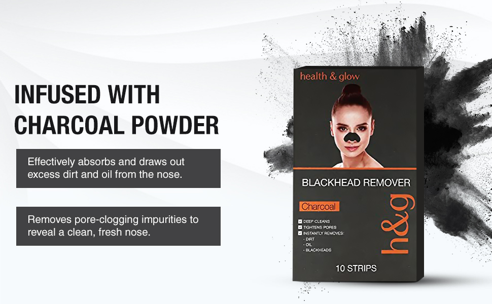 Health & Glow Charcoal Blackhead Remover Nose Strip