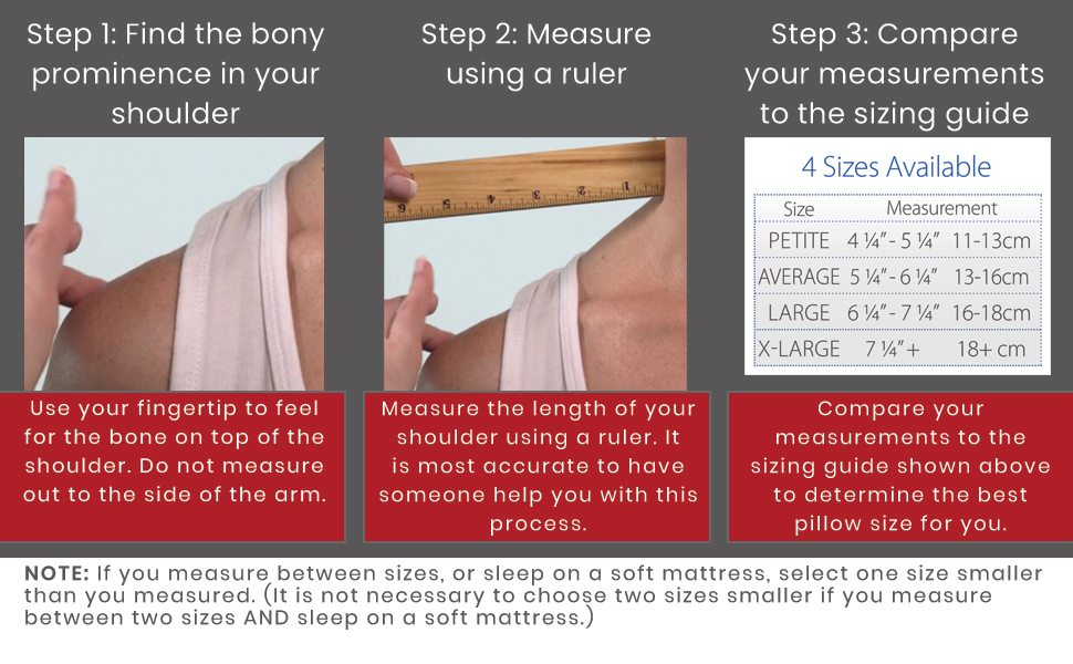 Measuring instructions and measuring guide. In between sizes, select one size smaller