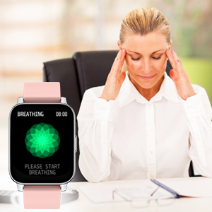 fitness tracker with blood pressure monitor ,ios compatible smart watch