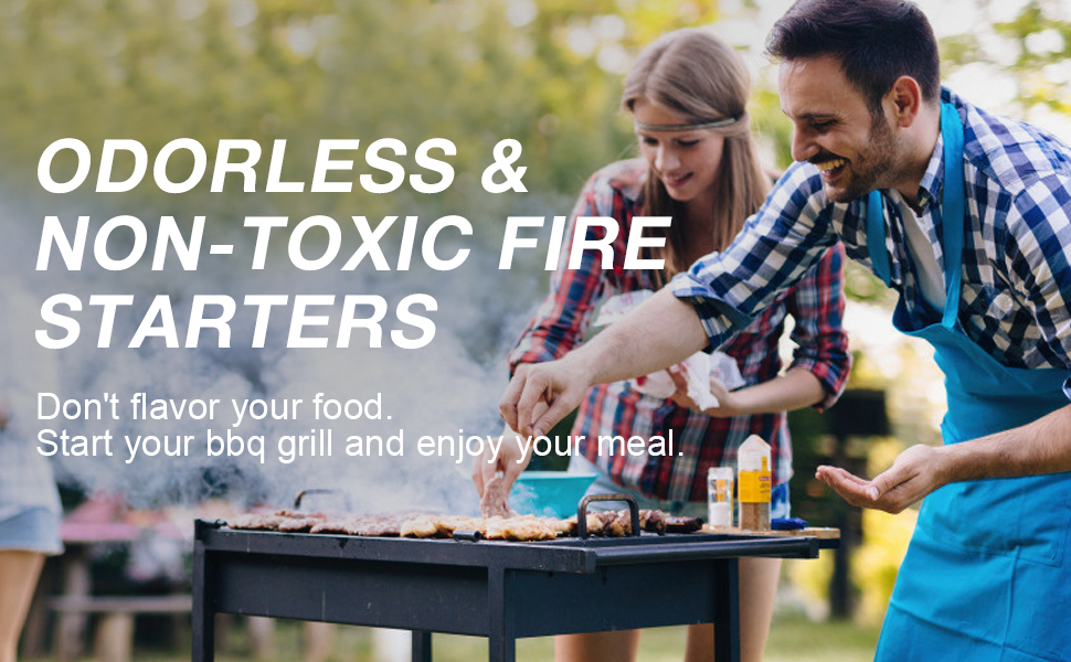 Odorless amp; non-toxic fire starters, don't taint amp; flavor your food