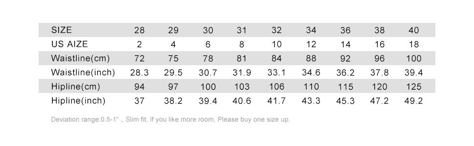 size chart for women cargo shorts