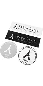 TokyoCamp焚き火台 ステッカー