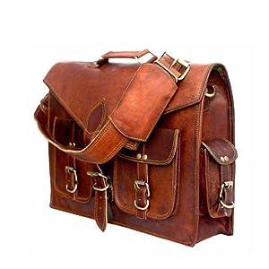 leather messenger briefcase satchel bag