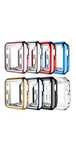 8 PACK Soft TPU Case with Screen Protector For Apple Watch Series