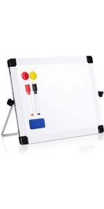 "ARCOBIS 14"" x 11"" Dry Erase White Board Easel for Desk"