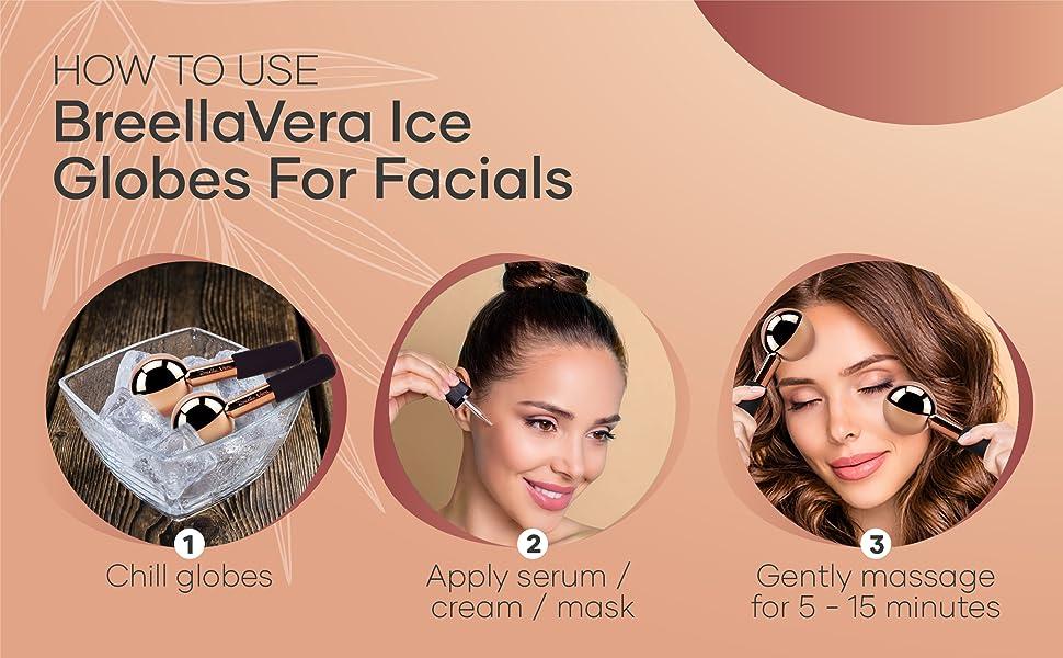 face massage, facial ice globes, face globes, facial globes, cryo globes, face ice globes