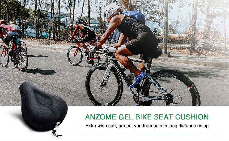 gel seat cushion peloton wide spin bike seat cushion bicycle padding seat