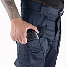 LCPNT206 LEE COOPER CARGO TROUSER MOBILE PHONE