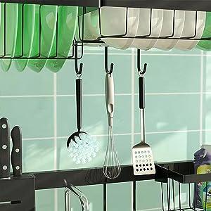utility hooks for kitchen storage