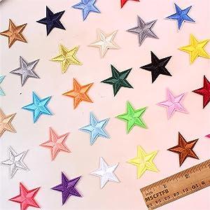 3.5cm mini star iron on patches