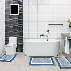 non-slip bath mat rug is suitable for bathroom, tub-side, front of the sink