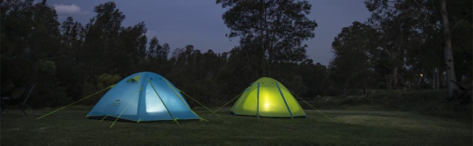 Naturehike Backpacking Camping Tent 1 2 3 4 Person Lightweight Waterproof Easy Setup 3 Season Hiking