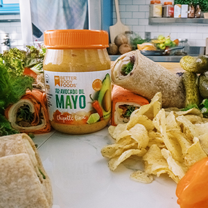 chipotle lime mayo is delicious on wraps