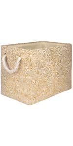 Gold Metallic Bin
