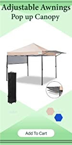 pop up canopy tent with awning