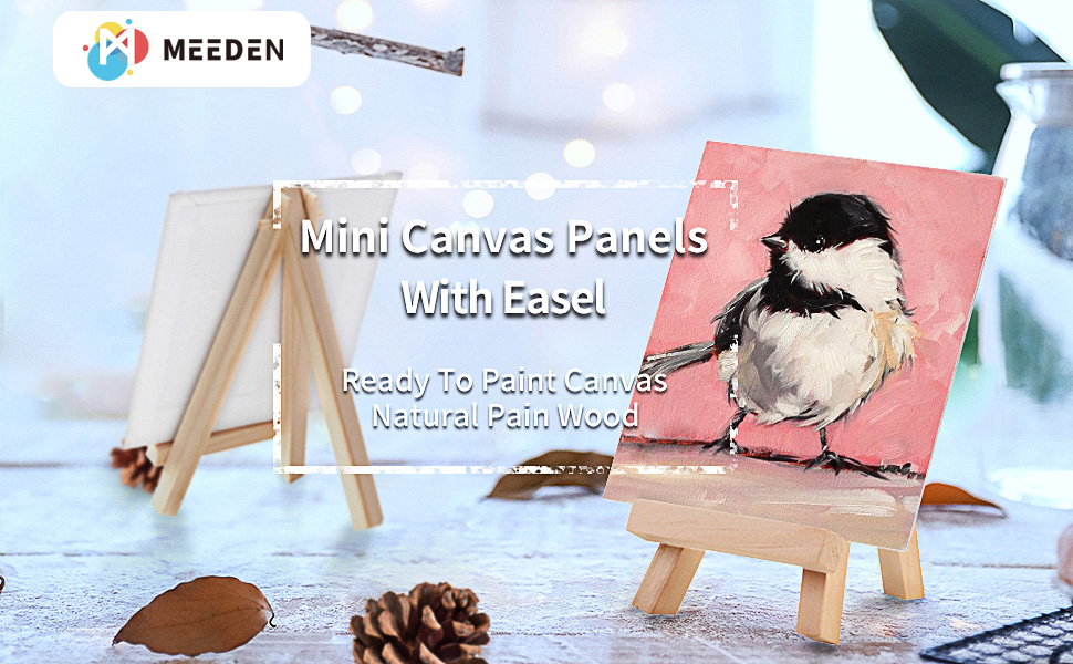 12 pcs Mini Canvases with Easels