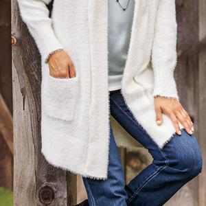 cardigan womens ladies fleece winter fall lightweight button plus size long sleeve soft sweater